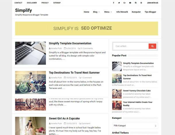 Simplify Responsive Blogger Template