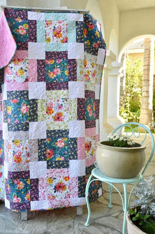 Flower Market Quilt Free Pattern designed by Amanda, aka Jedi Craft Girl