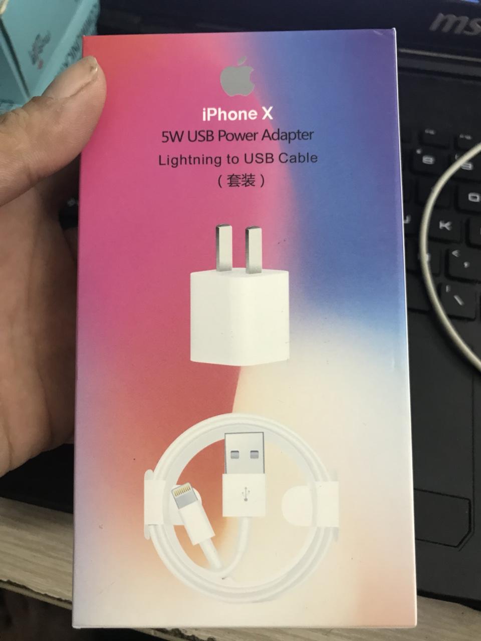 58k - Bộ sạc iPhone X zin giá sỉ và lẻ rẻ nhất