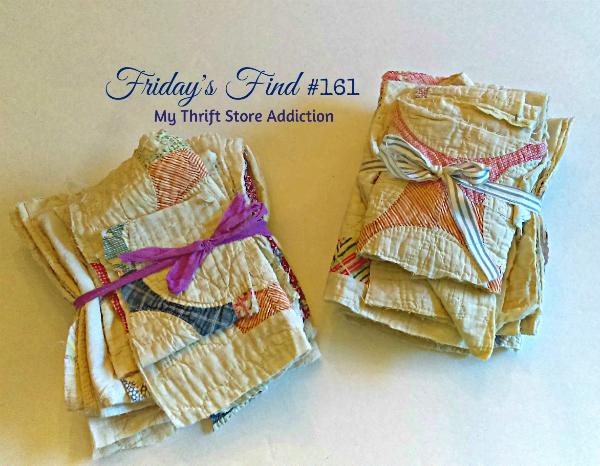 Vintage quilt scraps