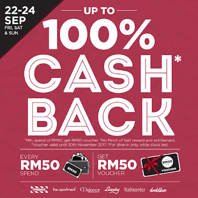 Italiannies 100% Cashback Voucher Promo