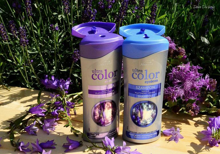 Joanna Ultra Color System szampon i odżywka do włosów blond, rozjaśnianych i siwych - recenzja