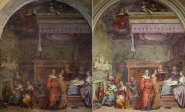 Major restoration of Renaissance frescoes at Basilica of the Santissima Annunziata in Florence completed