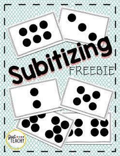 Subitizing Freebie,to practice number sense