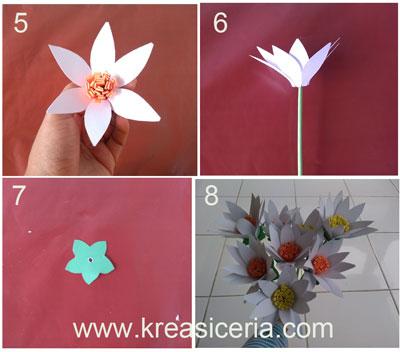 Cara Mudah Membuat Bunga  Krisan dari Kertas Kreasi Ceria