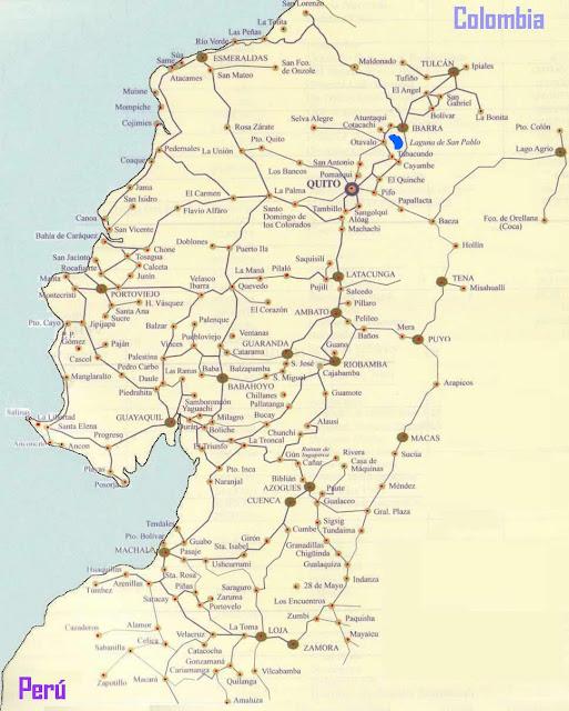 mapa carreteras ecuatorianas