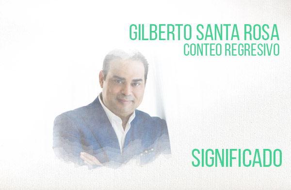Conteo Regresivo significado de la canción Gilberto Santa Rosa.