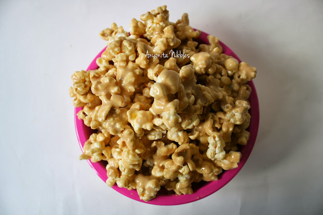 Gooey Marshmallow Caramel Popcorn | Anyonita-nibbles.co.uk