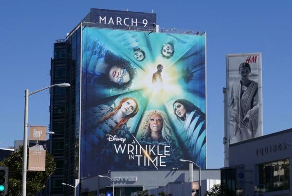 Giant Disney A Wrinkle in Time movie billboard