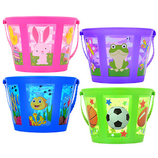Printed Panel Plastic Easter Baskets