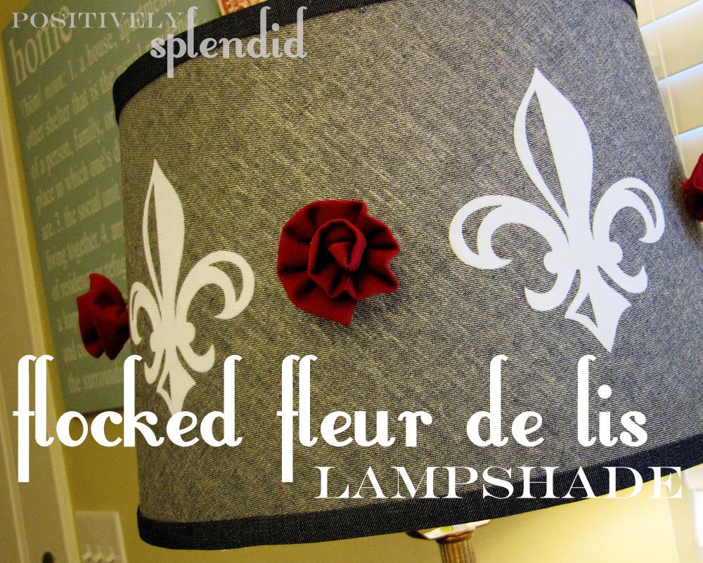 Flocked fleur de lis lampshade tutorial positively splendid flocked fleur de lis lampshade tutorial mozeypictures Image collections