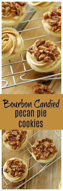 candied pecan pie cookies