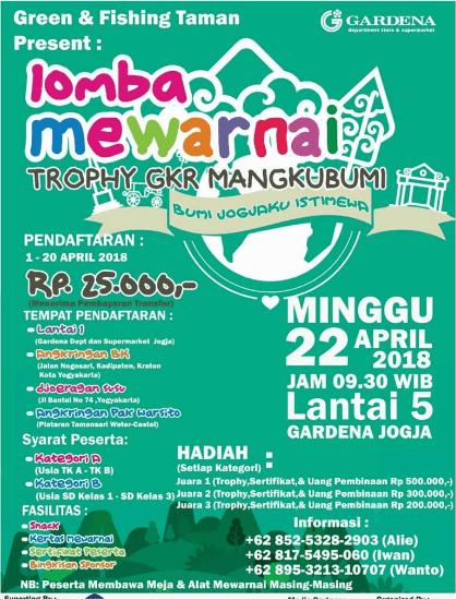 Lomba Mewarnai Piala GKR Mangkubumi 2018 Gardena