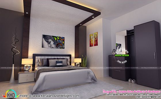 Sober colored bedroom interior