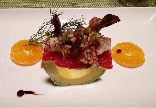 Watermelon and Prawn Parfait