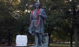 Christopher Columbus Statue In Little Italy Defaced Again On Columbus Day