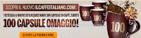 Logo Il Caffè Italiano: buono sconto da 10 euro subito + 100 capsule omaggio