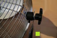 Schraube: Andrew James großer 45cm Bodenventilator aus Metall – 100 Watt, kraftvoller Luftfluss, 3 Geschwindigkeitseinstellungen und verstellbarer Neigung – 2 Jahre Garantie