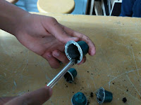 Limpiando cápsulas de café