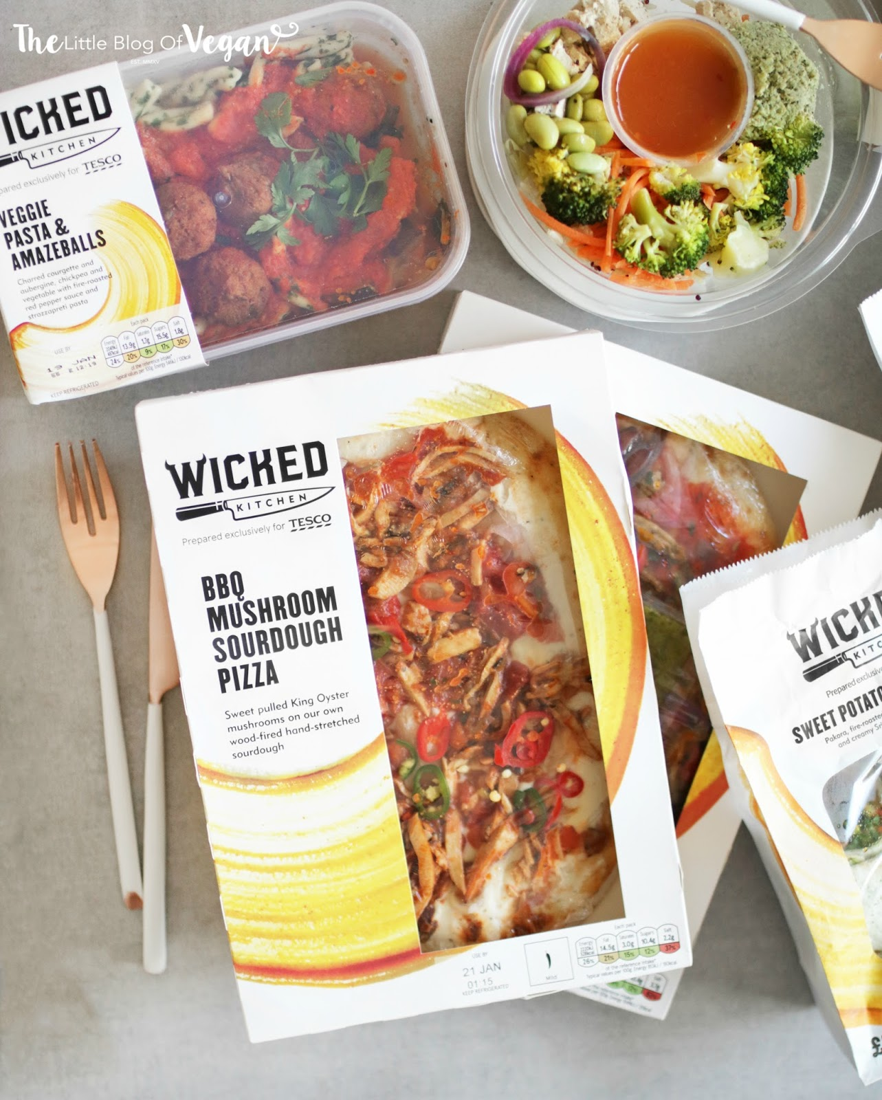 he has partnered with tesco to launch this array of flavourful ready meals - Wicked Kitchen