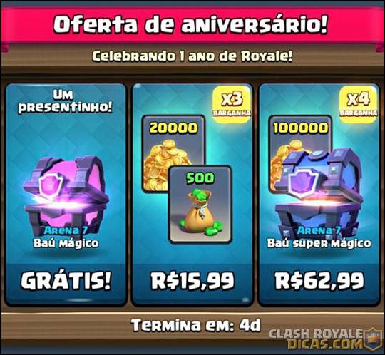 Nova oferta GRÁTIS especial de aniversário de 1 ano - 2