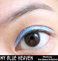 Jesse's Girl Cosmetics - Fluid Shadows - My Blue Heaven | Kat Stays Polished