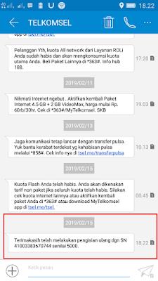 Bukti Pembayaran Pulsa Gratis dari Aplikasi Dealio Android