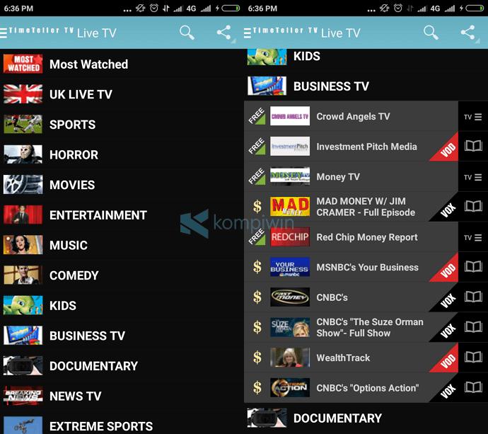 6 Aplikasi TV Online Indonesia Terbaik Android 1