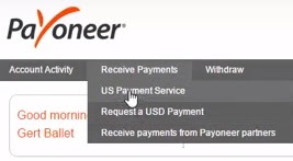 payoneer receive payments