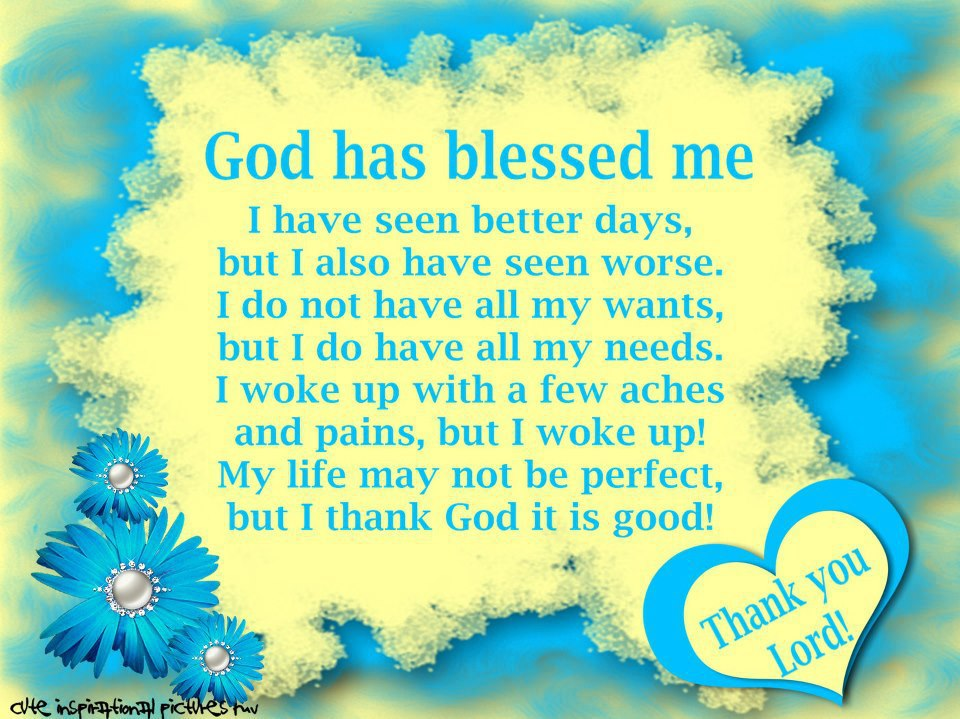 God Has Blessed Me Quotes And Stories