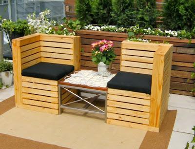 kursi dan meja taman cantik