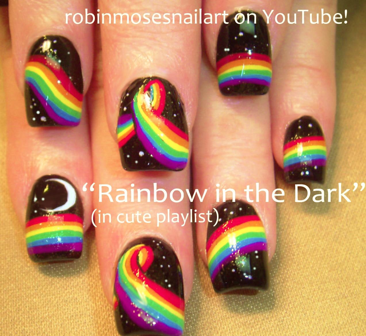 Rainbow Nail Art Designs: Robin Moses Nail Art: June 2016