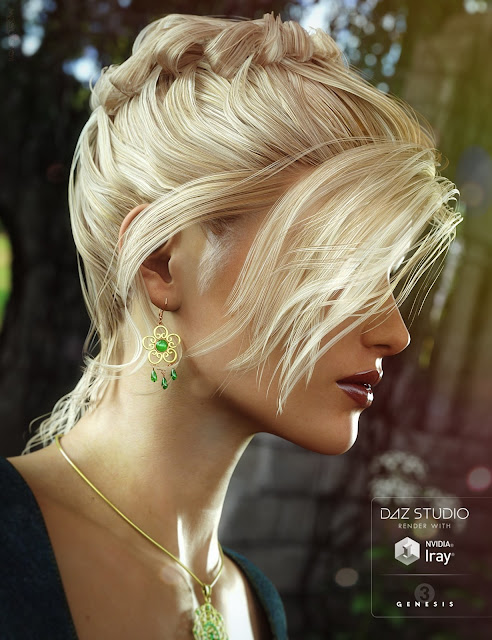 Date Night Hair for Genesis 3 Female