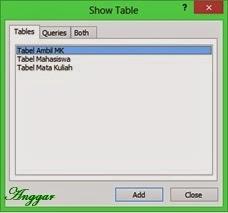 Menambahkan tabel pada relasi