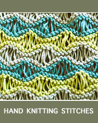 Learn Seafoam Textured Pattern with our easy to follow instructions at HandKnittingStitches.com