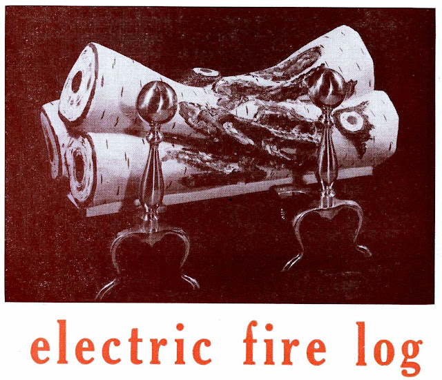 1961 electric fire log