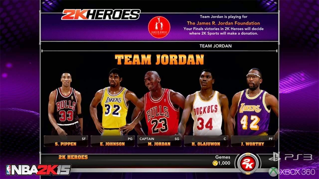 NBA 2k15 2k Heroes Mode : Team Jordan
