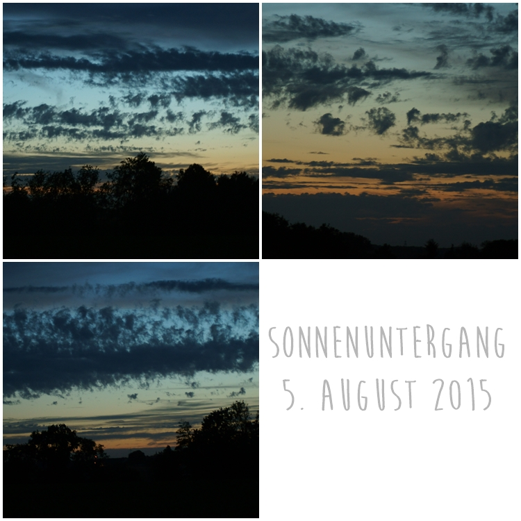Blog & Fotografie by it's me! - Sonnuntergang am 3. August 2015