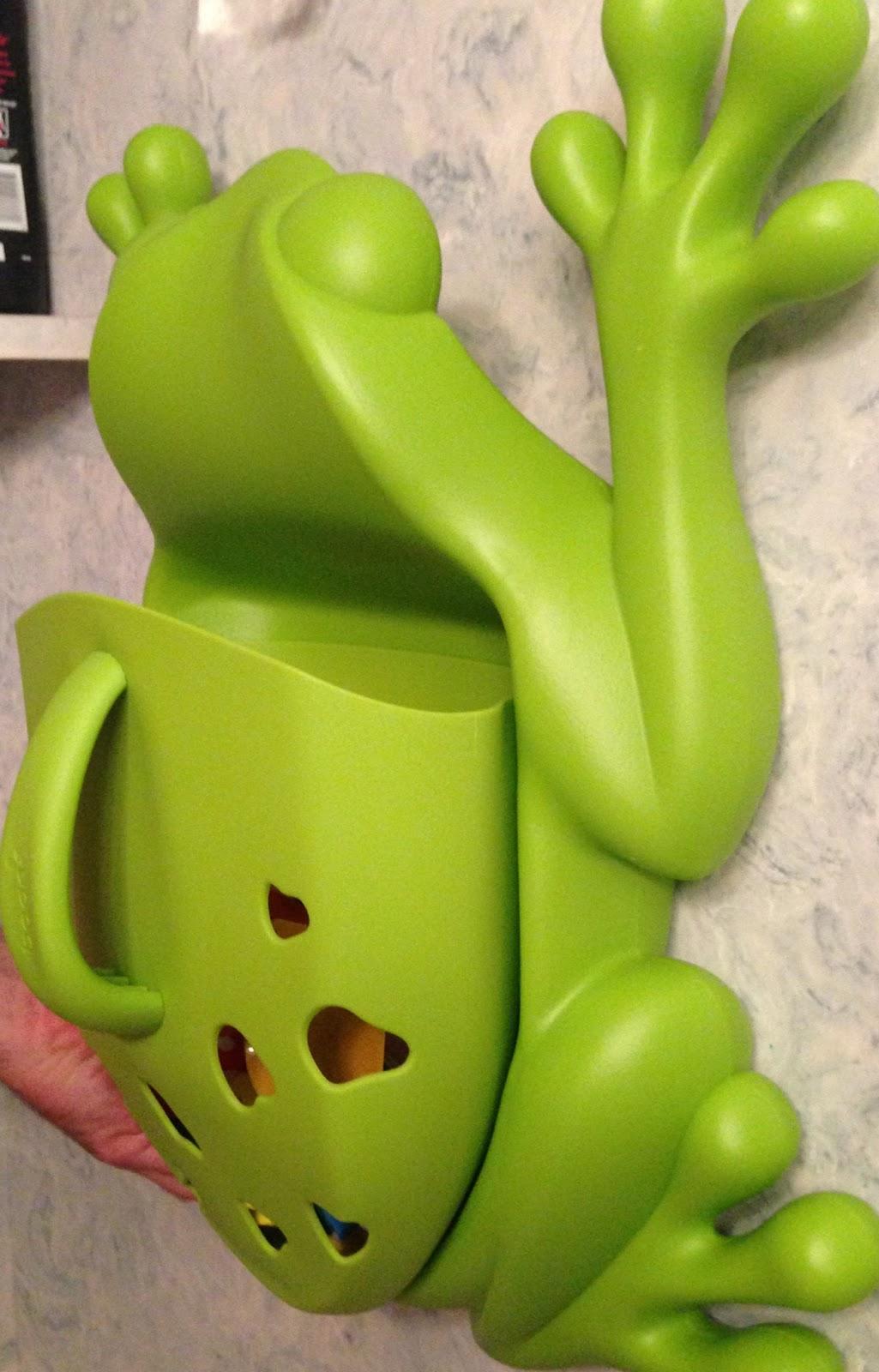 Momma4life Preppy Parents Boon Frog Pod Bath Toy Storage