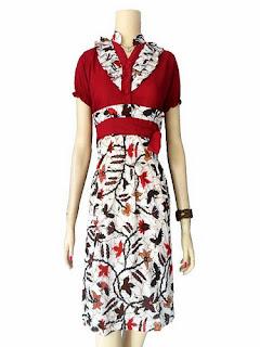 Dress Batik Modern Formal