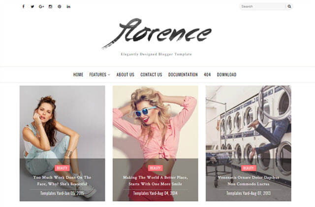 Florence responsive  Blogger Templates