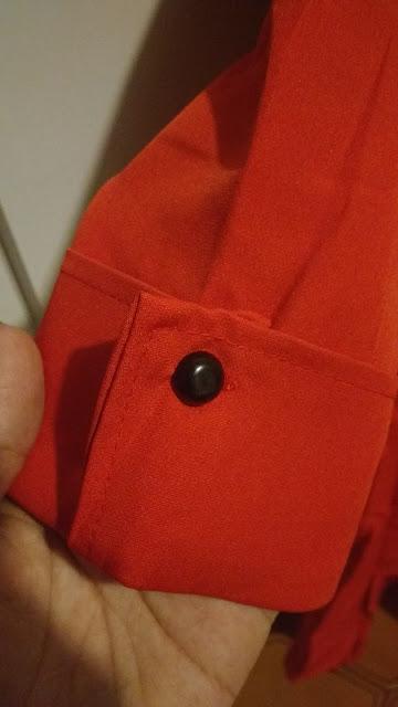 Recebidos Loja Dresslily blusa vermelha detalhe manga