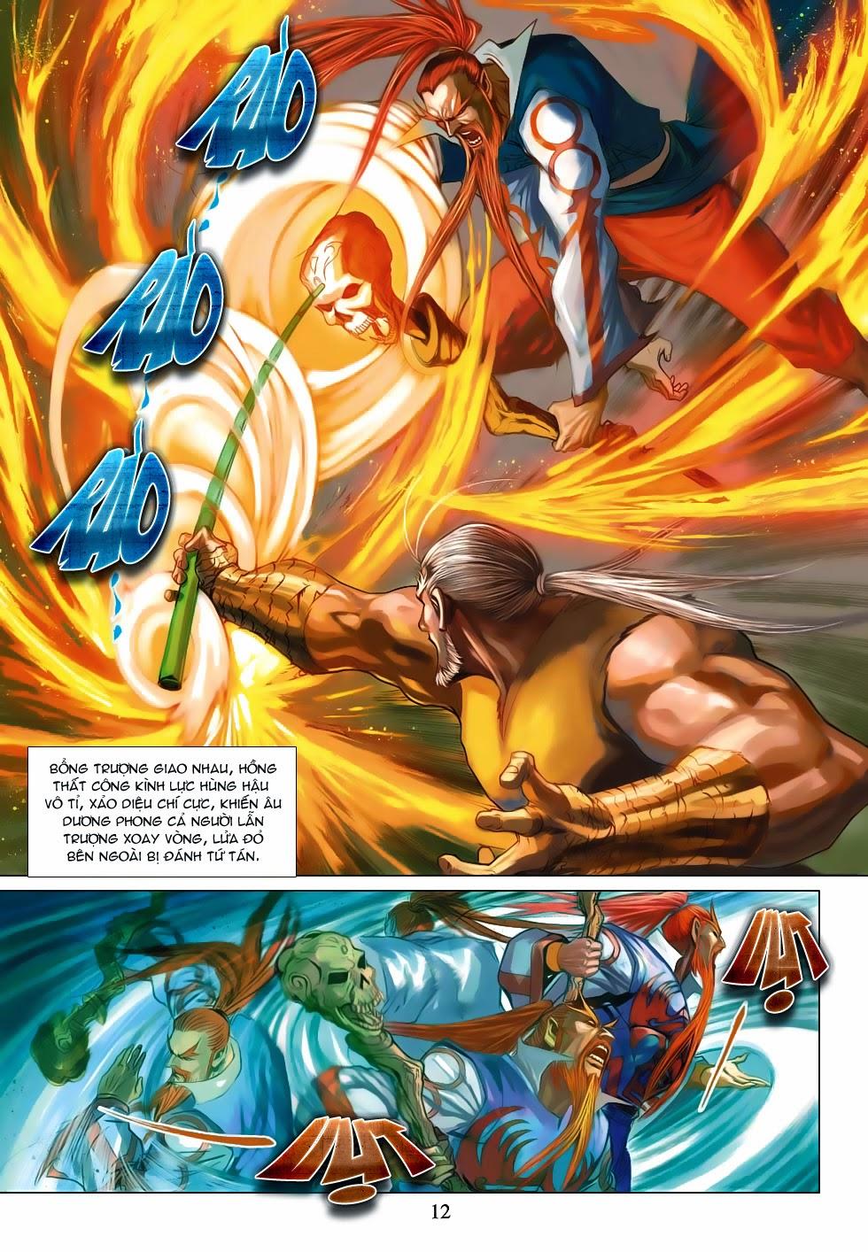 Anh Hùng Xạ Điêu anh hùng xạ đêu chap 53: lâm nguy thụ mệnh đả cẩu học pháp trang 13