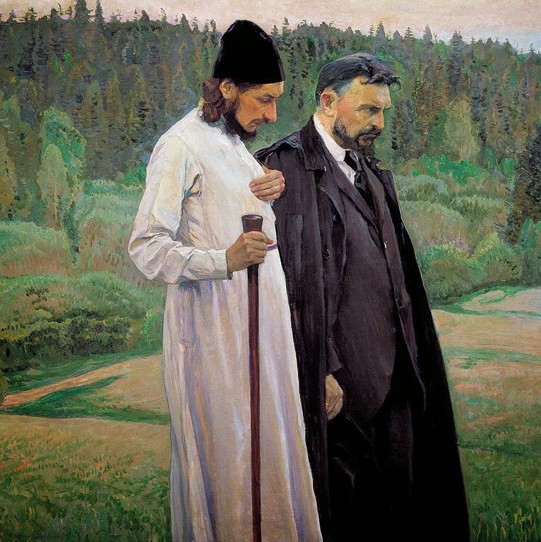 Filósofos - Pinturas de Mikhail Nesterov - (Simbolismo) Russo