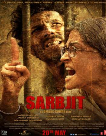 Poster Of Sarbjit 2016 Hindi 720p DVDRip ESubs Watch Online Free Download Worldfree4u