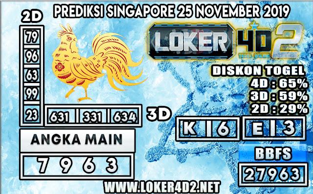 PREDIKSI TOGEL SINGAPORE LOKER4D 2 25 NOVEMBER 2019