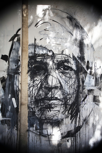 Street Art Portrait By Borondo With Local Greek Artists In Athens, Greece. 2