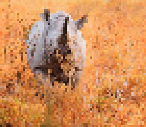 22 Shocking Photos Composed Of As Many Pixels As There Are Animals Still Alive In These Species