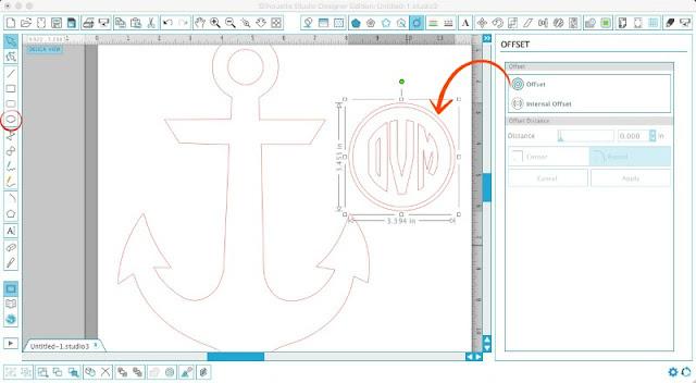 Silhouette Cameo, Silhouette Studio, monogram, anchor, beach cover up, men's t-shirt, initials