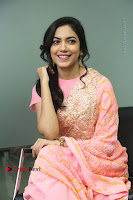 Actress Ritu Varma Pos in Beautiful Pink Anarkali Dress at at Keshava Movie Interview .COM 0245.JPG